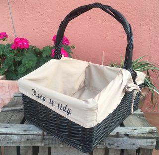 Antigua cesta Keep it Tidy #yomequedoencasa