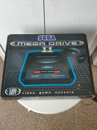 consola sega mega Drive II completa