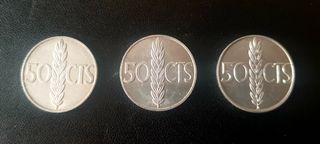 MONEDAS de 50 CENTIMOS FRANCO 1966
