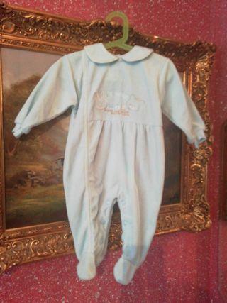 Pijama talla 9 meses azul bebé niño niña unisex