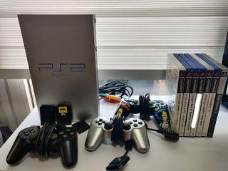 Pack PlayStation 2 + 4 juegos + 3 mandos