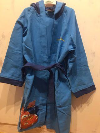 Albornoz niño microfibra azul Rayo McQueen T8-10