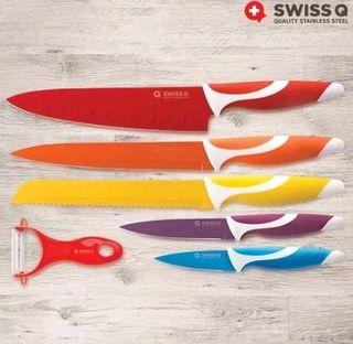 Cuchillos con revestimiento cerámico 6 piezas