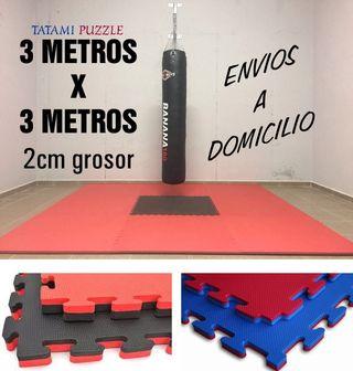 Nuevo: 9 m2 suelo goma gimnasio. Envío a domicilio