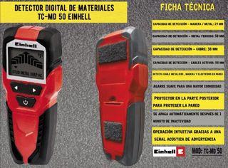 Detector digital metales y madera Einhell TC-MD50