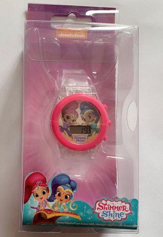 Disney shimmer shine reloj con luz
