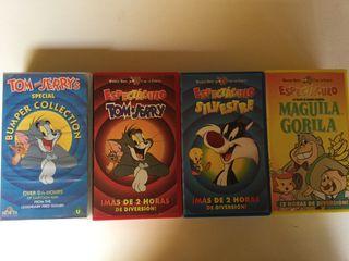 Lote 4 VHS DOBLES Cine Familiar Warner (8 VHS)