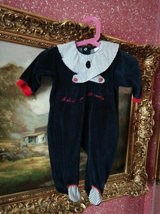 Pijama talla 3 meses bebe niño niña unisex azul