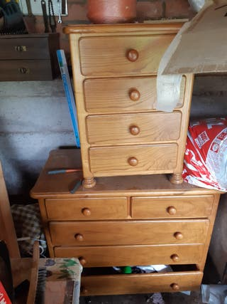 cómoda y cajonera madera maciza.