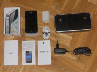 IPHONE 4S DE 16 GB+BASE LOGIC3. BUEN ESTADO.