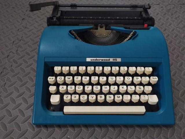 Máquina de escribir Underwood.