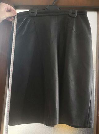falda piel talla 42