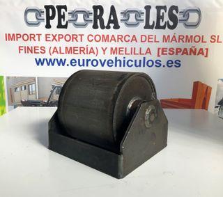 Rodillos para contenedor de 160 mm con soporte