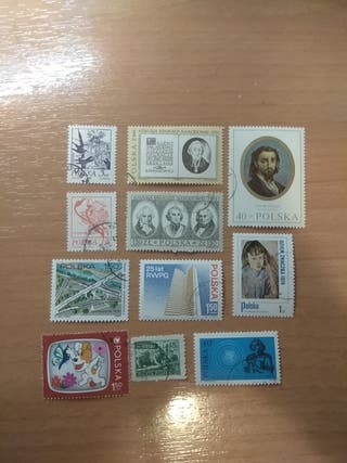11 sellos / stamps - Polonia / Poland