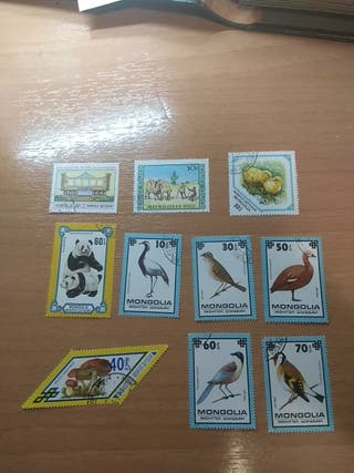 10 sellos / stamps - Mongolia 1976-1979