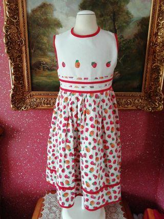 Vestido talla 6 años niña estampado frutas