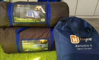 6 man tent set up