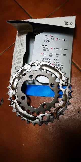 platos bici Shimano 22-32