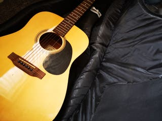 Encore Electric Accoustic Guitar & Case