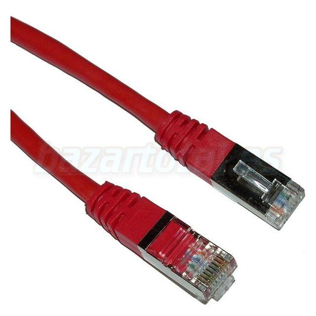 CABLE DE 3M. ROJO PARA RED LAN ETHERNET FTP CAT.5e
