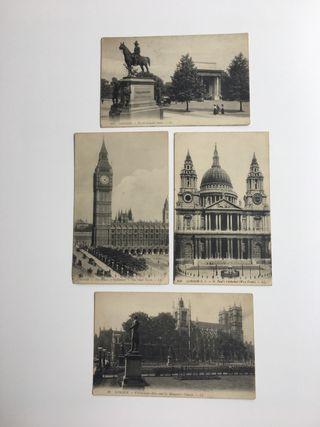 4 Postales antiguas de Londres