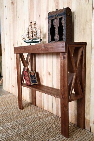 recibidor rustico en madera de pino Flandes