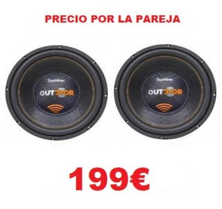 2 SUBWOOFER BOMBER OUTDOOR 500W RMS 2 OHM NUEVOS