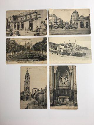 6 Postales antiguas de lugares de Francia