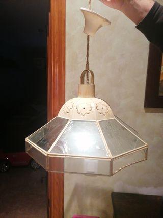 lámpara forja rústico