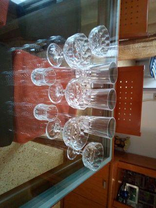 copas cristal tallados