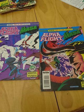 Lote 2 cómics Alpha Flight Bimestral.La masa