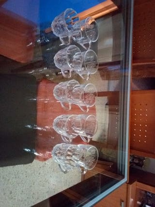 vasos cafe cristal