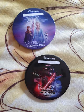 Chapas Frozen / Star Wars Disneyland Paris