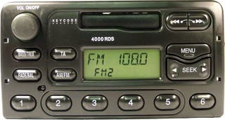 Ford radio tape player with code