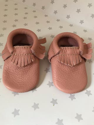 Mocasines de piel bebé niña 3-6 meses (talla 2)