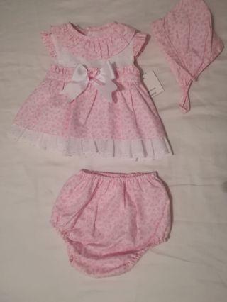 conjunto bebé, niña de 3 meses
