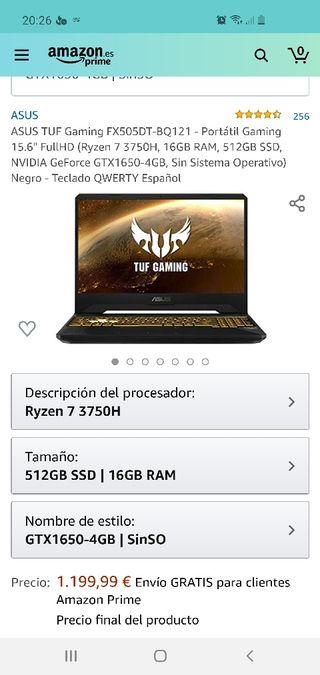 NUEVO Portatil ASUS TUF Gaming FX505DT-BQ121