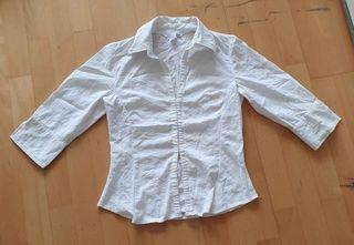 Camisa blanca de mujer H&M talla 36