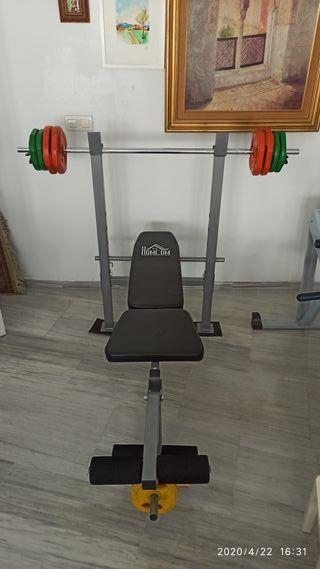banco pesas musculacion press banca pectoral
