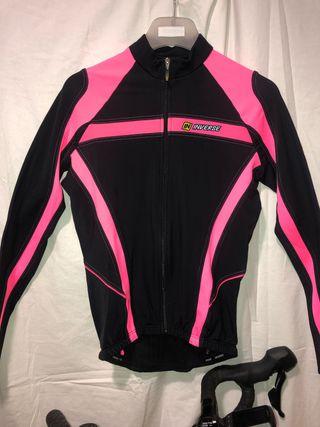 Chaqueta y pantalón ciclismo térmica Mujer