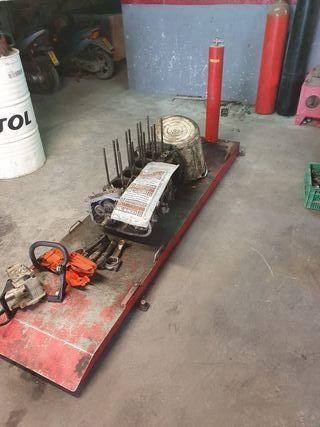 Elevador neumático de motos