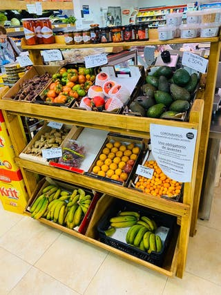 Expositor fruta