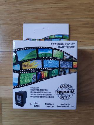 Cartucho de tinta negro compatible HP 338XL