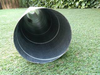 2m de tubo chapa galvanizada 150mm diámetro