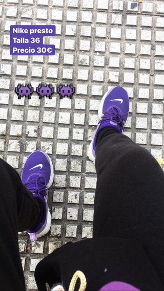 construcción racional de calidad superior recogido Zapatillas Nike Presto de segunda mano en WALLAPOP