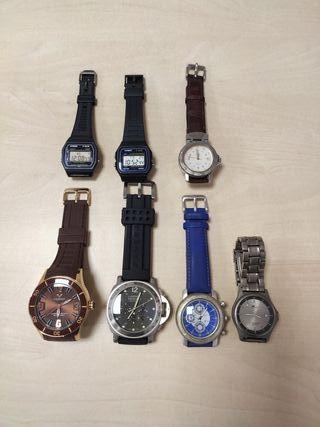 Lote relojes casio, viceroy, lotus....