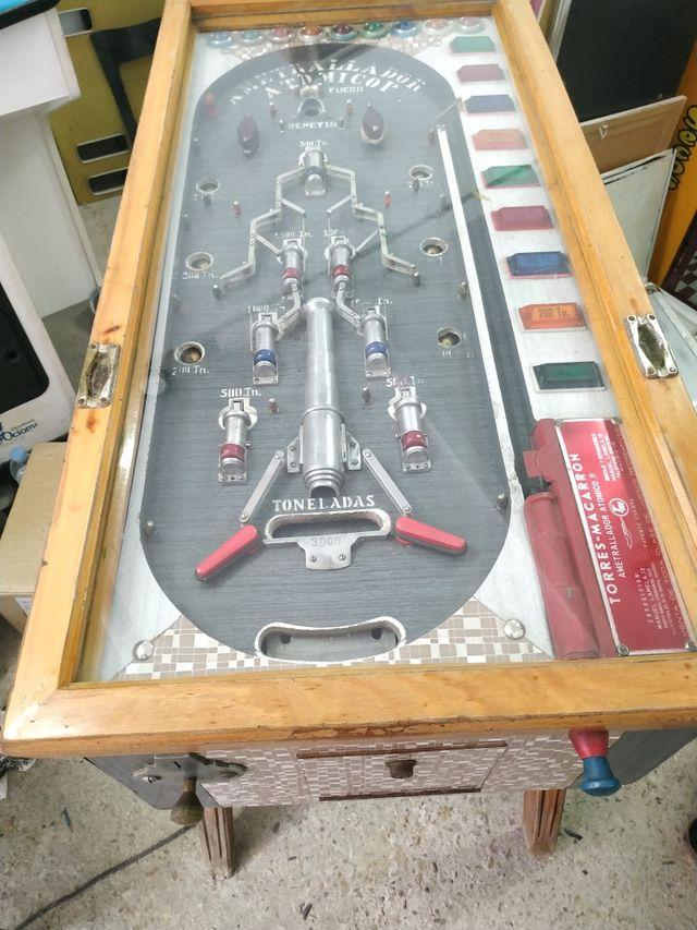 maquina recreativa pinball ametrallador atómico