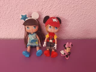 muñecos mickey y minney