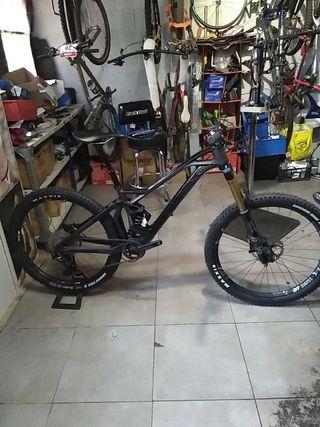 Kit Set Manillar Tija de sillín y Potencia de Carbono Bicicleta Montaña MTB BTT