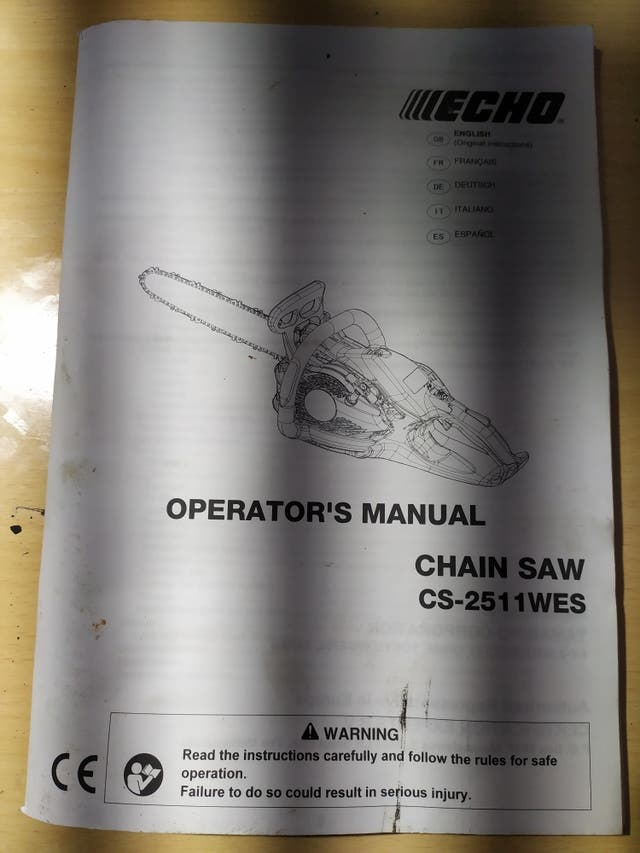 manual motosierra echo